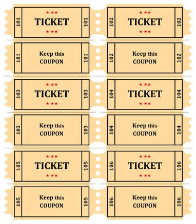 15 Free Raffle Ticket Templates Follow these steps to create your - free printable event tickets