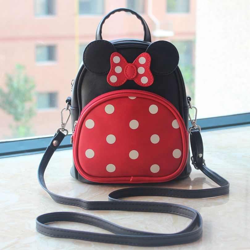 d6e2a47188 Children girl shcool backpacks lovely Mickey Mouse ears and big bowknot  backpack cute girls mochila bag