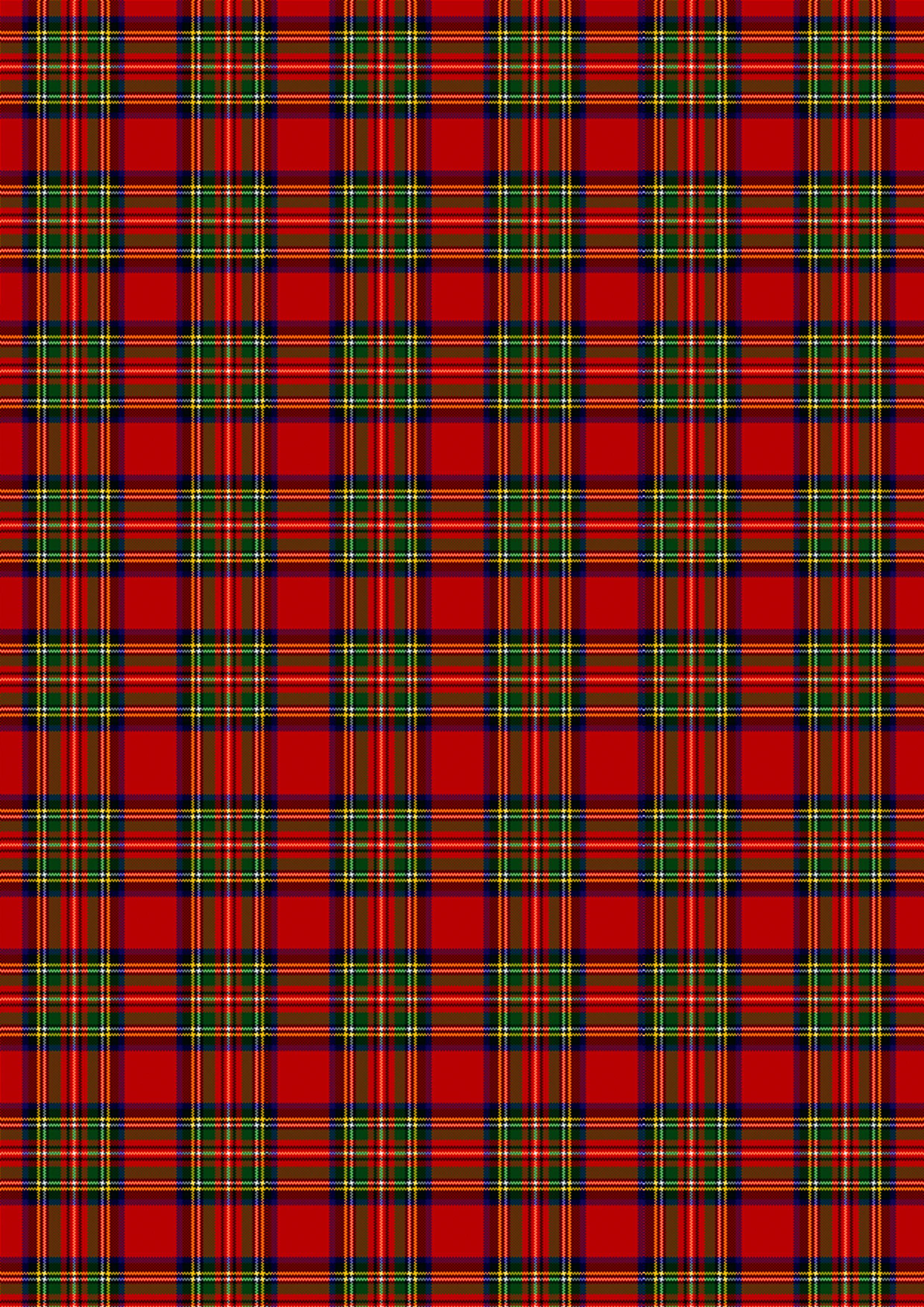 884 Red and green Scottish tartan design 4 Single paper decoupage napkins