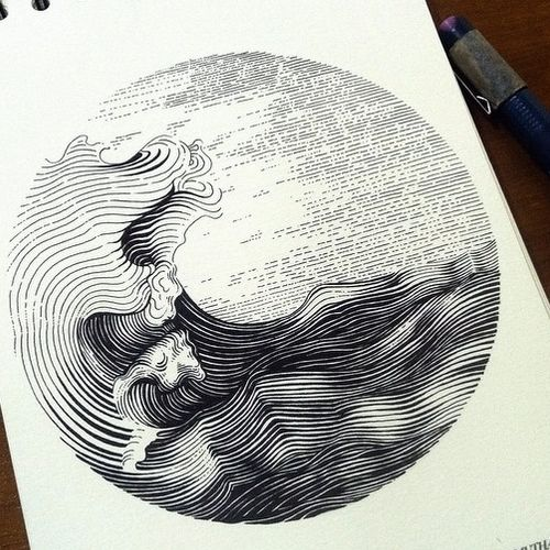 11-Waves-Muthahari-Insani-Beautifully-Detailed-Ink ...