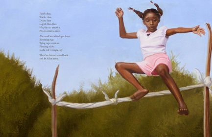 Touch the Sky: Alice Coachman, Olympic High Jumper, by Ann Malaspina, illustrations by Eric Velasquez
