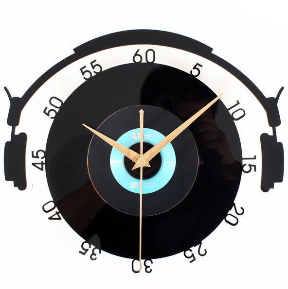 3 Piece / Lot Vinyl Records CD Stereo Style Wall Clock Acrylic Wall Clock Crystal Material Wall Clock Creative Retro Art