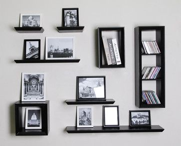 Floating Wall Shelves Decorating Ideas | Wall Floating Shelf And Cube  Shelvings Sets   Modern