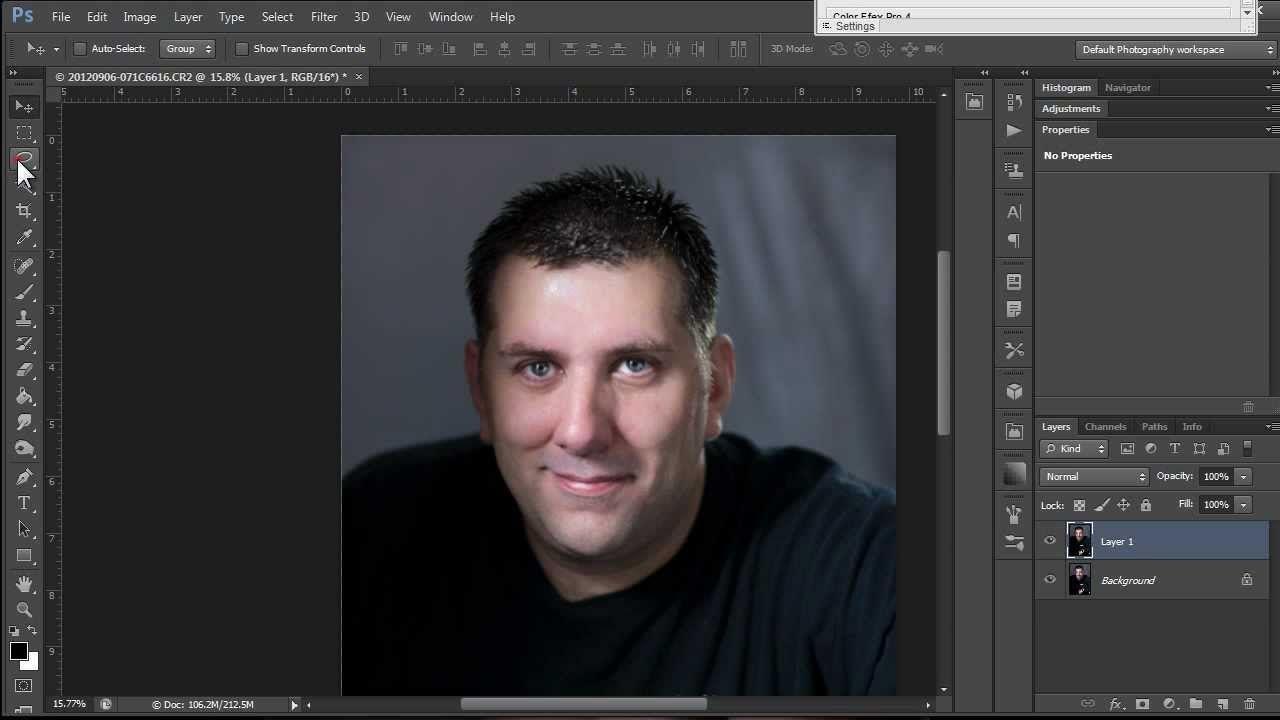 Center selection photoshop