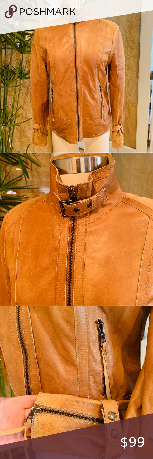 ️ANDREW MARC ️Beautiful Leather jacket L in 2020 Leather
