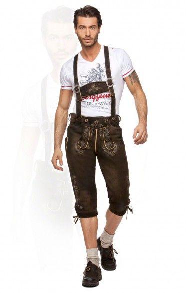 German leather trousers knee length h-beam Louis moor  87d47eb73