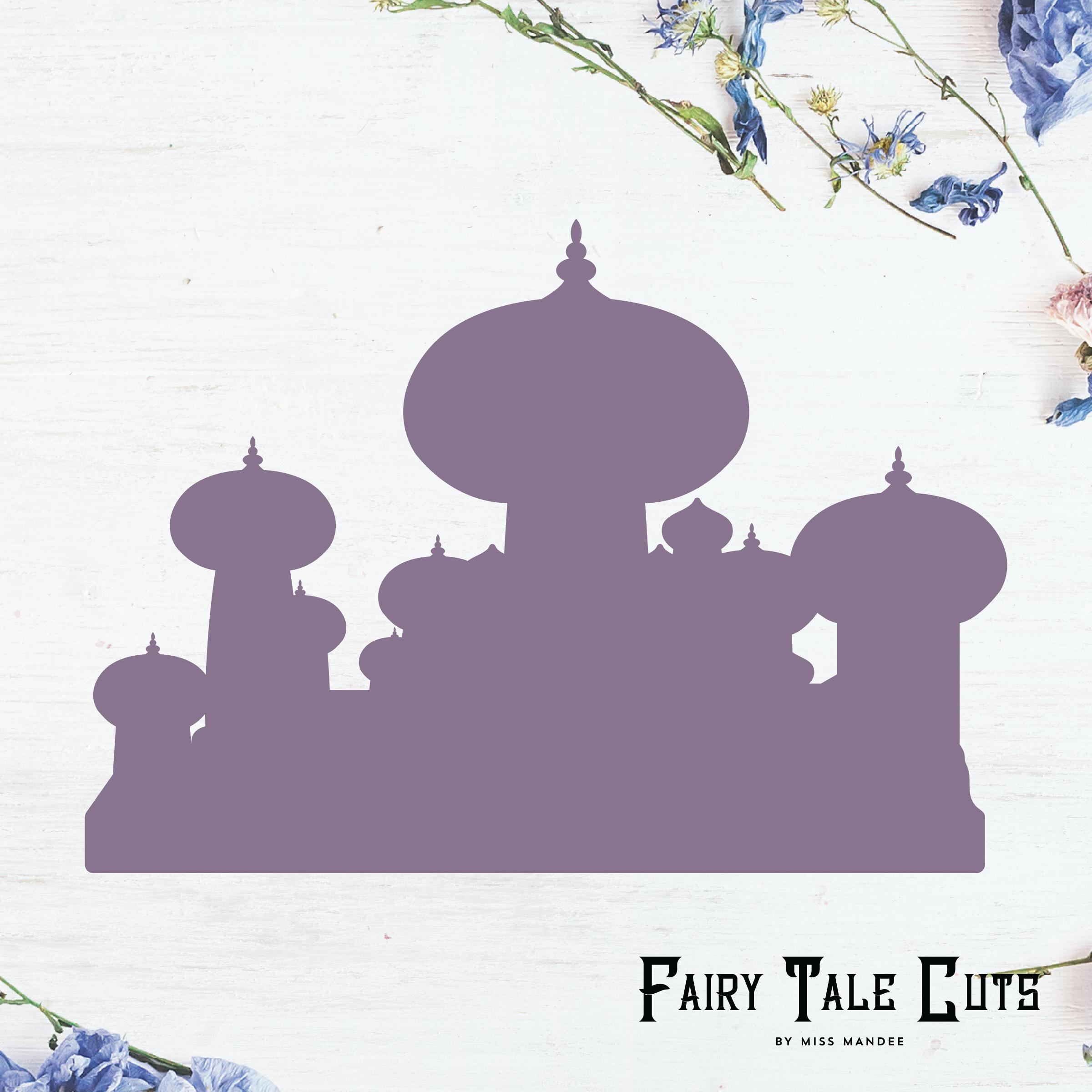 Jasmine's Castle Silhouette, Agrabah Palace, Aladdin