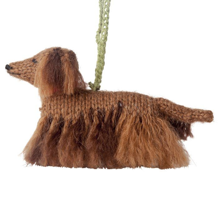 Long Haired Dachshund Holiday Shaped Ornament | Dachshund ...