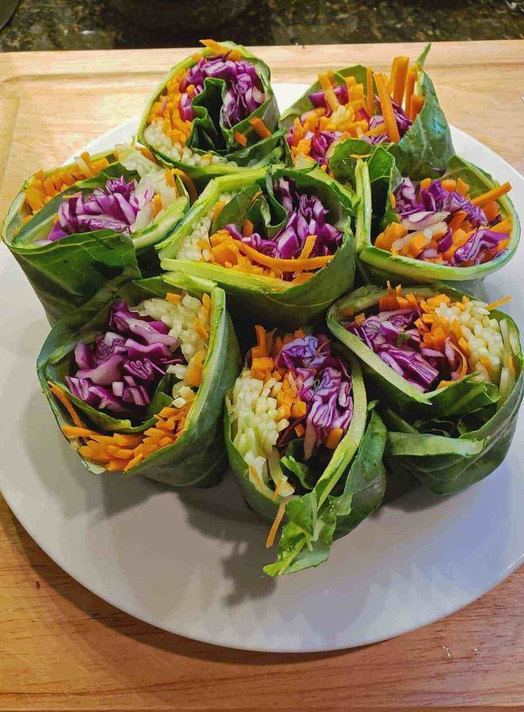 Rainbow Roll-Ups with Peanut Sauce images