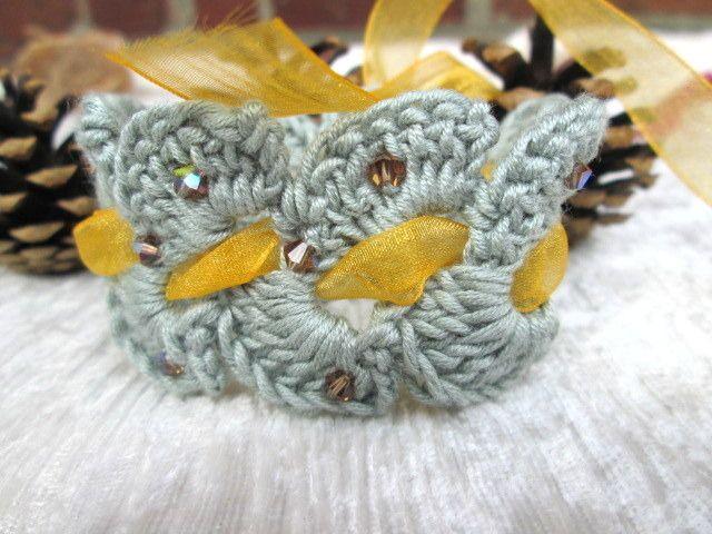 """bracelet collection """"intemporel"""" en 100 % coton : Bracelet par la-maille-aux-tresors"""
