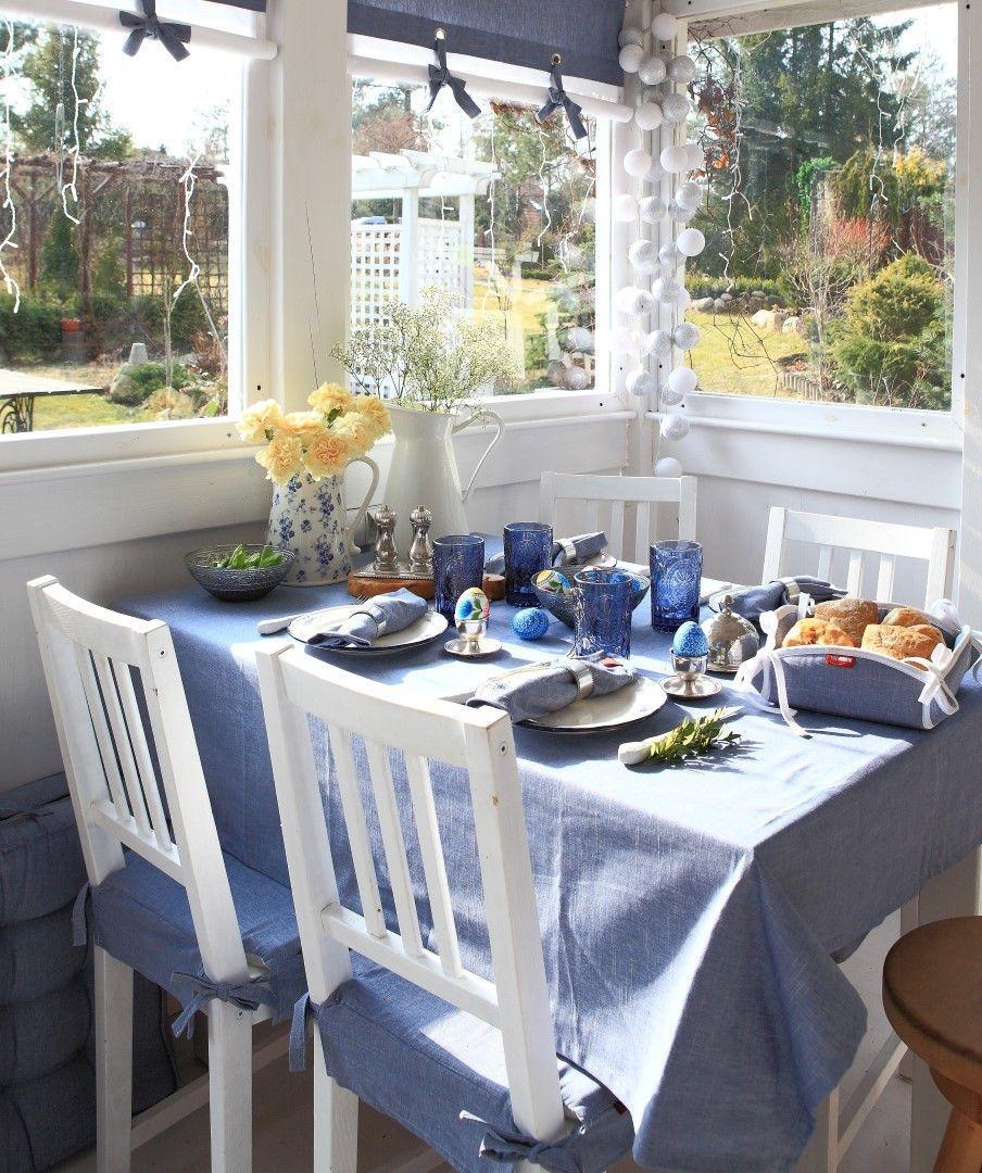 Dekoria De ostertisch in taubenblau schöne osterdeko dekoria de wohnidee
