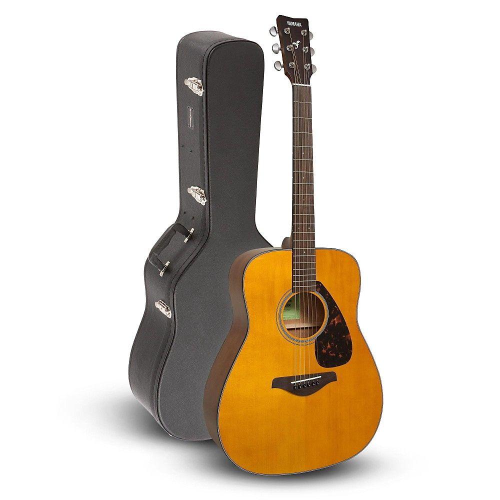 Yamaha Fg800 Folk Acoustic Guitar Vintage Tint With Road Runner Rrdwa Acoustic Case Acoustic Electric Guitar Yamaha Guitar Acoustic Electric