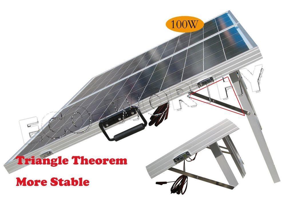 100w Folding Portable Foldable Solar Panel Kit 12v Waterproof Rv Boat Caravan Solar Panels Best Solar Panels Solar Panel Kits