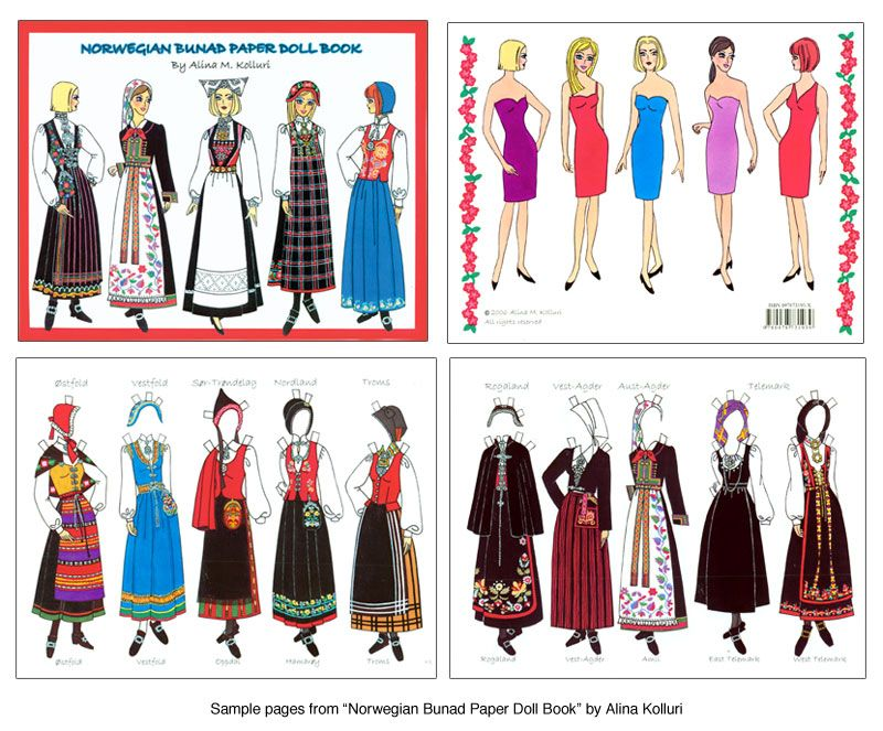 Norwegian Bunad Paper Doll Book W  Dolls   Bunads