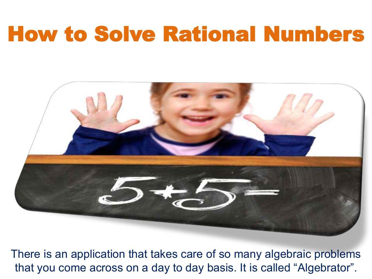 How to Solve Rational Numbers Rational numbers