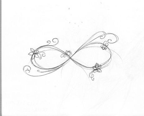 infinity symbol tattoo drawing | tats i'd love to get | pinterest
