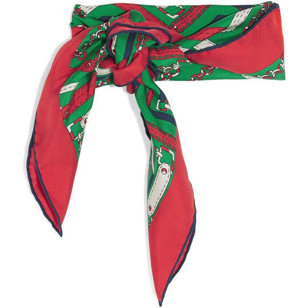 Printed Silk-twill Scarf - Red Gucci k0dpJ