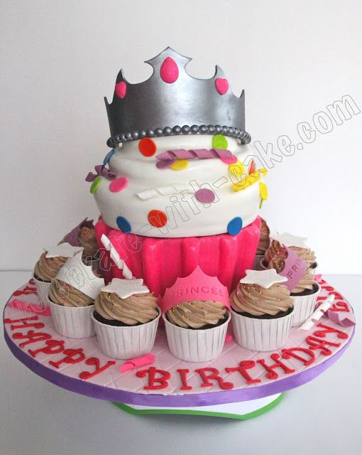 Celebrate with Cake!: Giant Cupcake Cake #giantcupcakecakes