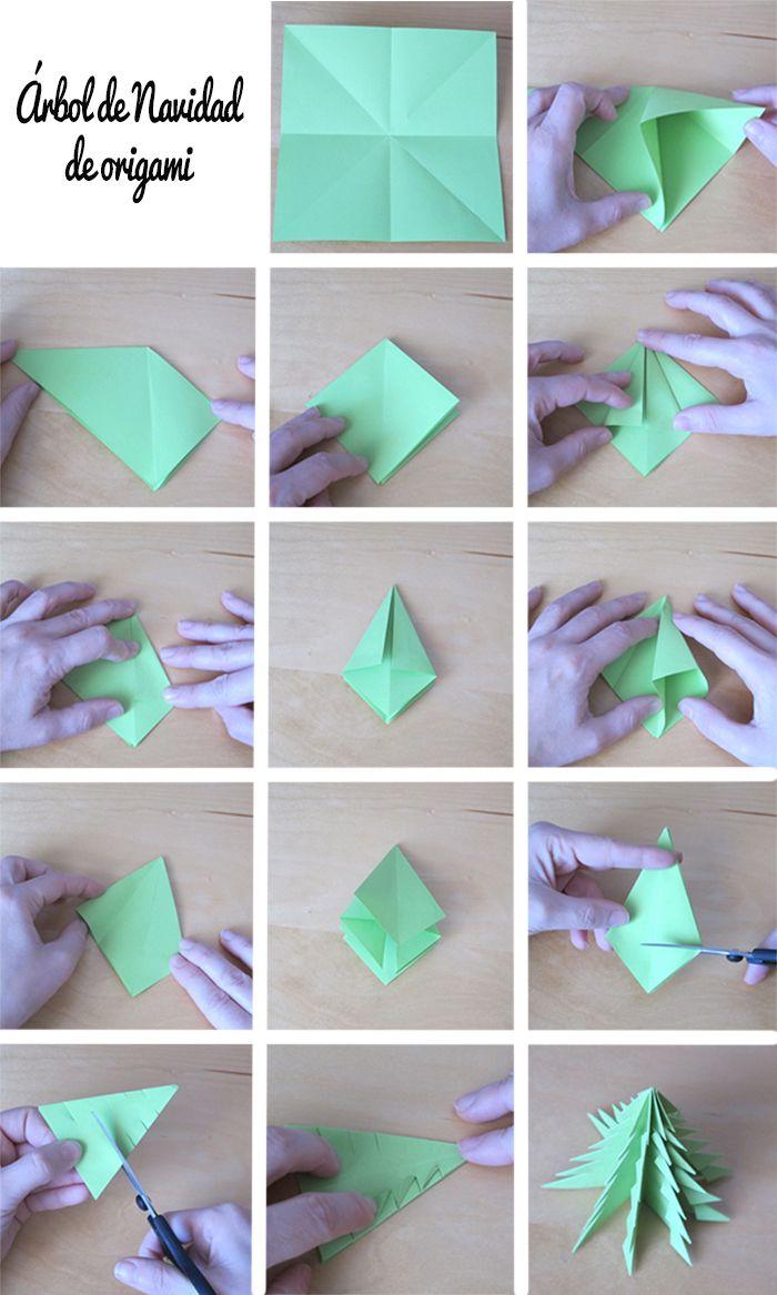Rbol de origami paso a paso cuquilife christmas - Arbol de navidad origami ...