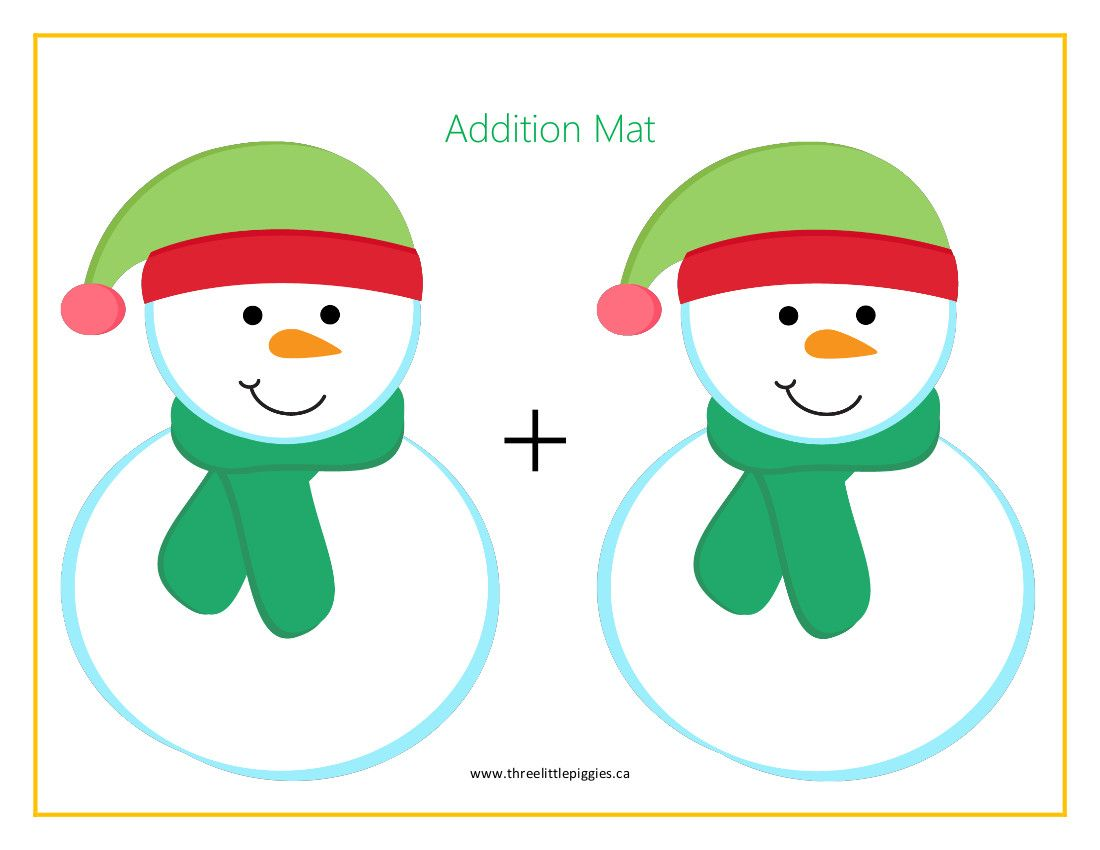 Cute Snowman Addition Amp Subtraction Mats