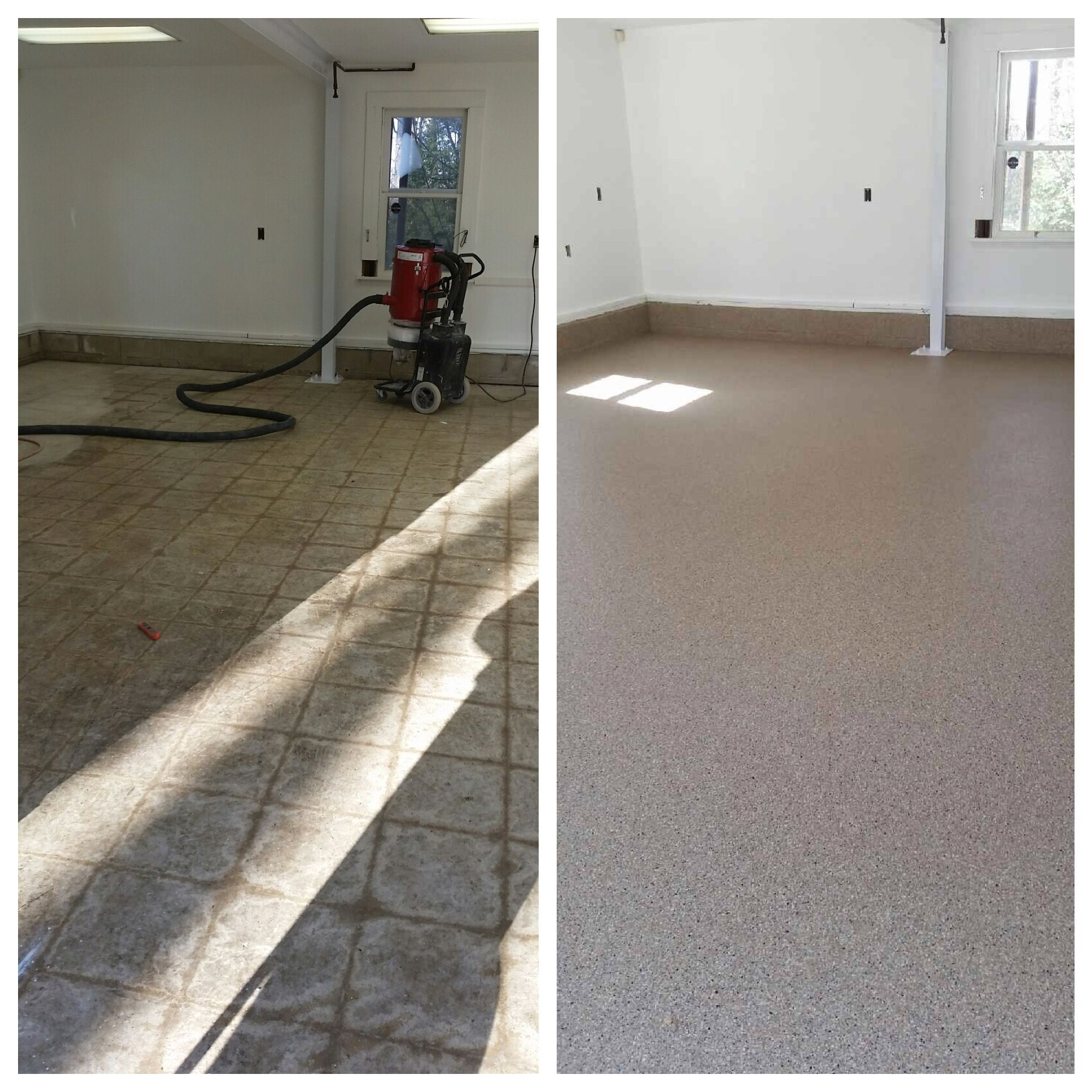 Great Before And After Shot Our Amazing Garage Floor Epoxy Systems
