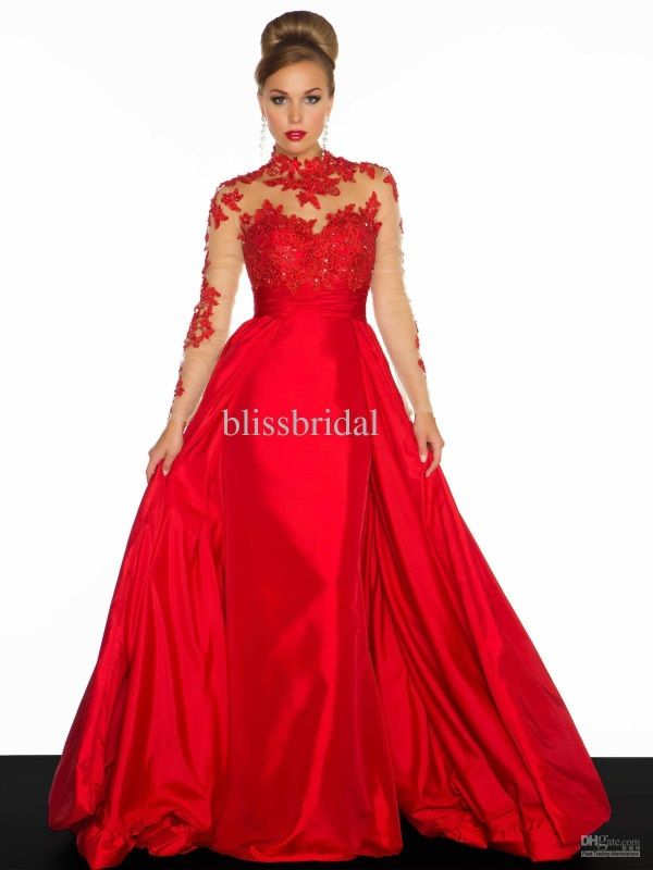 Nice Red ball gowns with sleeves 2017-2018 Check more at http ...