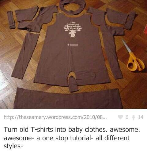 love this - baby clothes from old tshirts