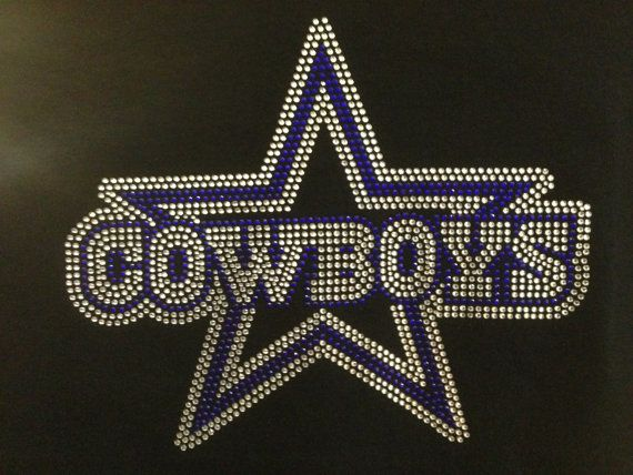 Rhinestone Transfer Dallas Cowboys Star Sports Rhinestone