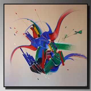 Collection de peintures abstraites Un jour ailleurs... #Art #Artiste #Peinture