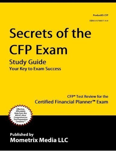 Secrets Of The Cfp Exam Study Guide Cfp Test Review For The
