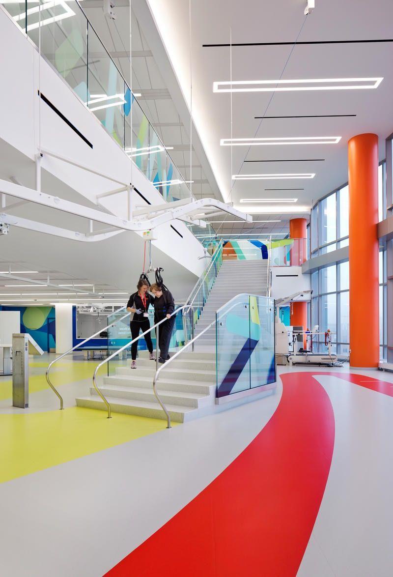 Pin By Annie Lanciano On Commercial Interior Design Healthcare Design Children Hospital Design Rehabilitation Center Architecture