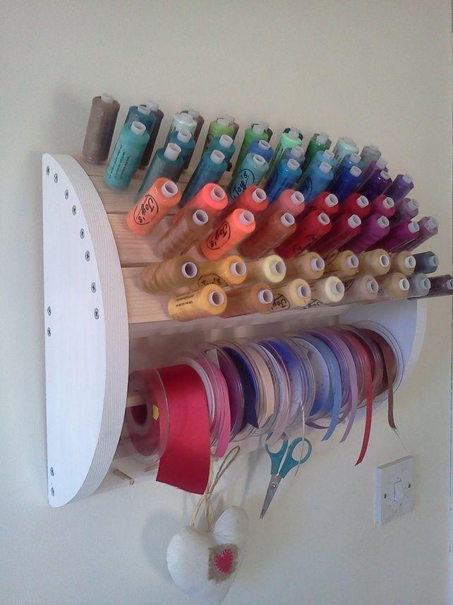 Sewing Thread And Ribbon Organiser Em 2020 Espaco De Costura