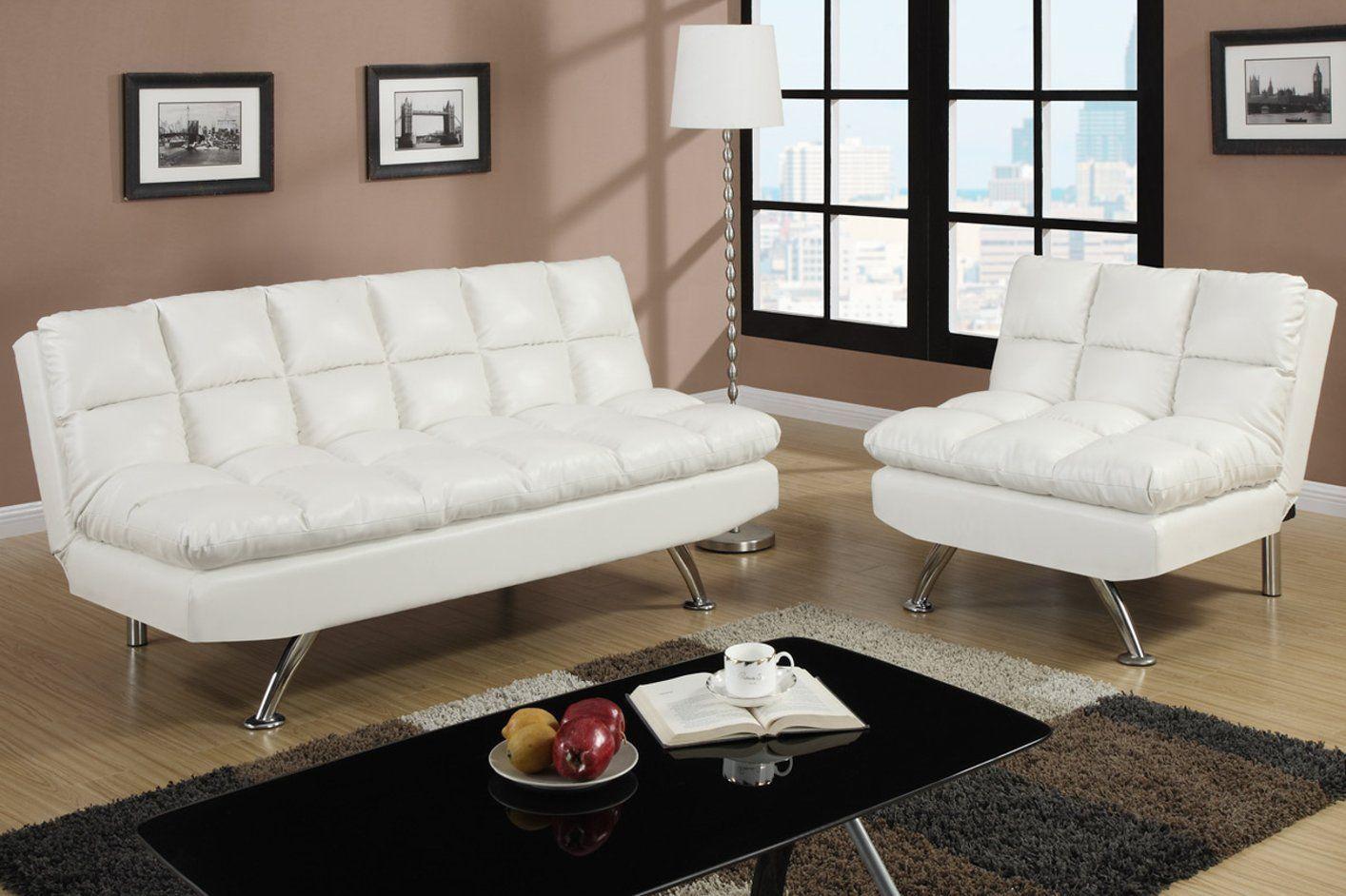 White Faux Leather Sofa Futon Sofa Leather Futon Futon Frame