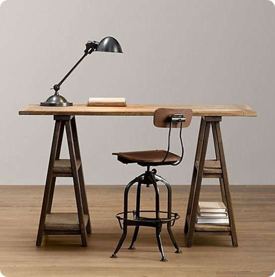 I Need To Make This Sawhorse Trestle Desk Trestle Desk Diy Desk Sawhorse