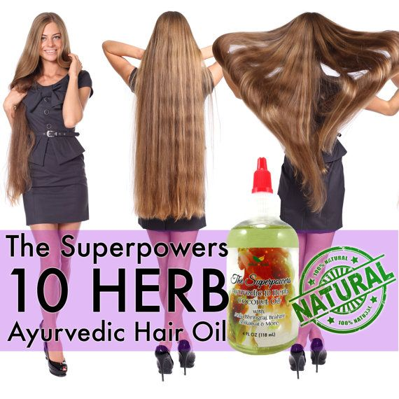 Ayurvedic Hair Scalp Growth Oil With 10 Herbs For Healthy Shiny