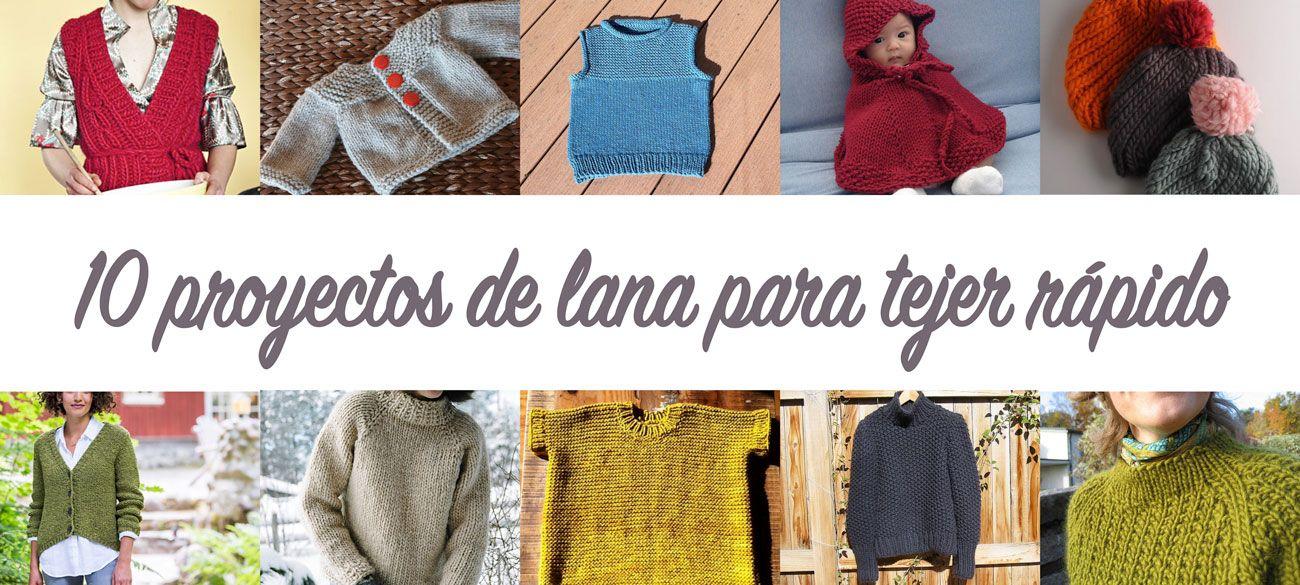 10 proyectos de lana para tejer con lana gorda, para ir viendo el ...
