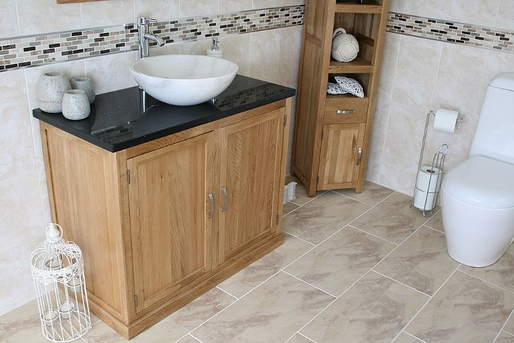 Bon Bathrooms And More Store   Bathroom Vanity Unit 100cm Solid Oak   Bathroom  Ideas