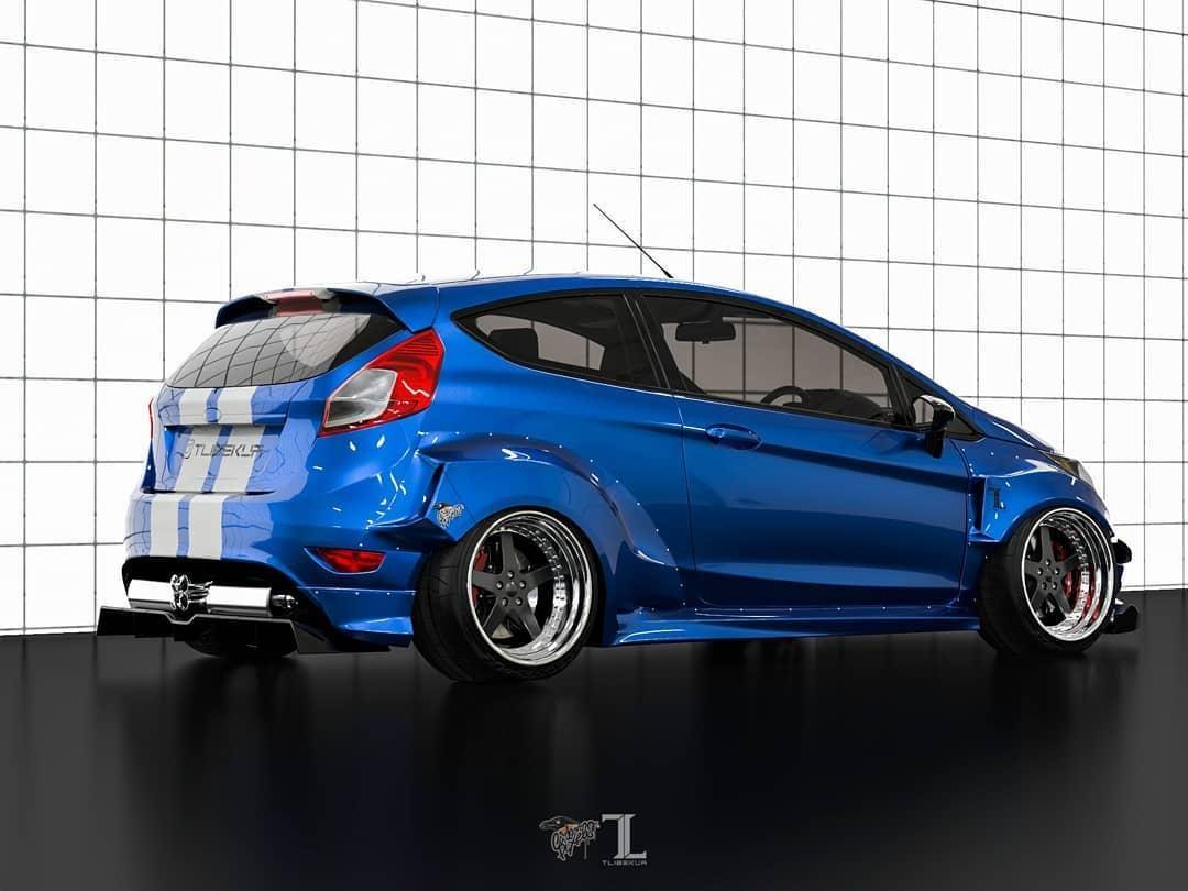 Ford Fiesta Mk7 3dr Wide Body Kit Krotov Pro In 2020 Wide Body Body Kit Wide Body Kits
