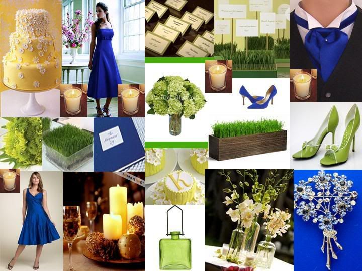 Royal blue and light green wedding | We\'re Getting Married ...