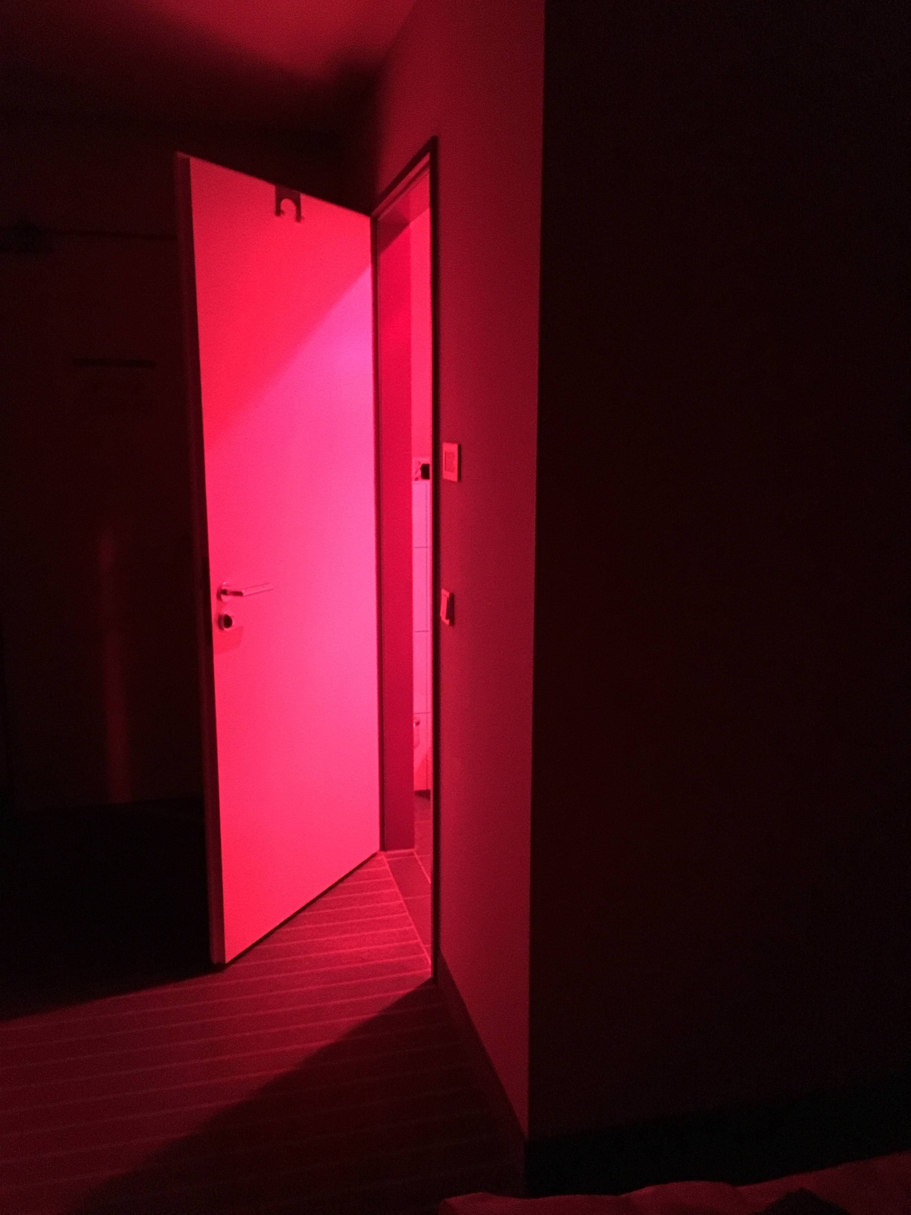 The Hotel Where I Stayed For The Night Had A Red Light In The Bathroom So You Won T Be Bothered By A Bright White Light When White Light Bright White Light