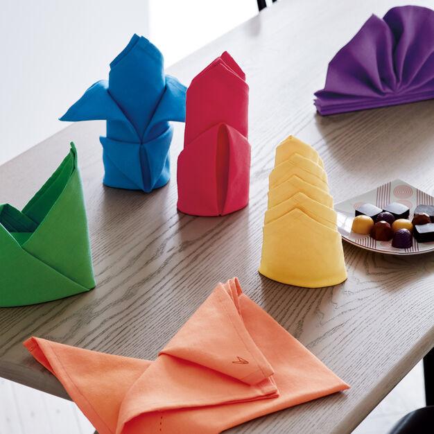Fold-by-Number Cloth Napkins - Set of 6 #clothnapkins