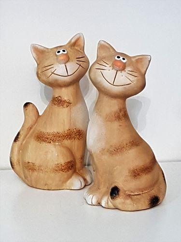 keramik katzen  niedlich figur tiere