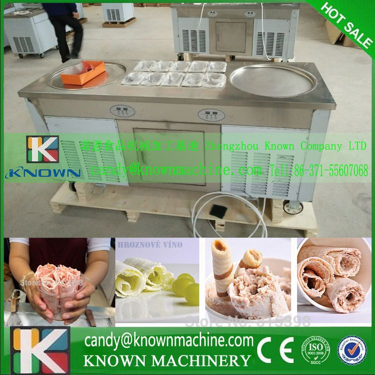 Free ship by sea frying ice cream machine hotting selling ...