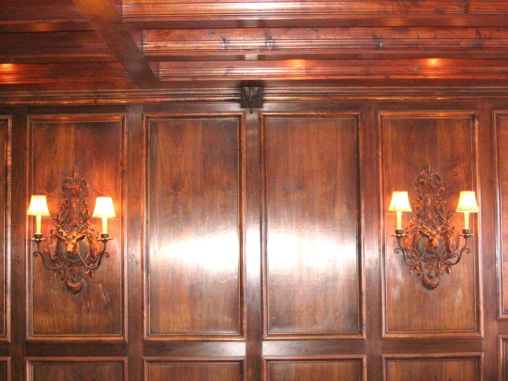 Mahogany Wood Wall Paneling : Mahogany wainscoting panels chateau bed architecture