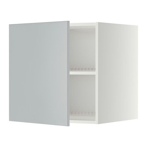 METOD Top cabinet to fridge/freezer - white, Veddinge grey, 60x60 cm