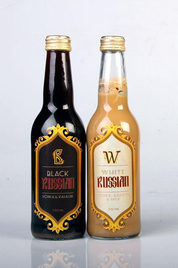 Premixed Alcoholic Drinks - Black & White Russian on Behance