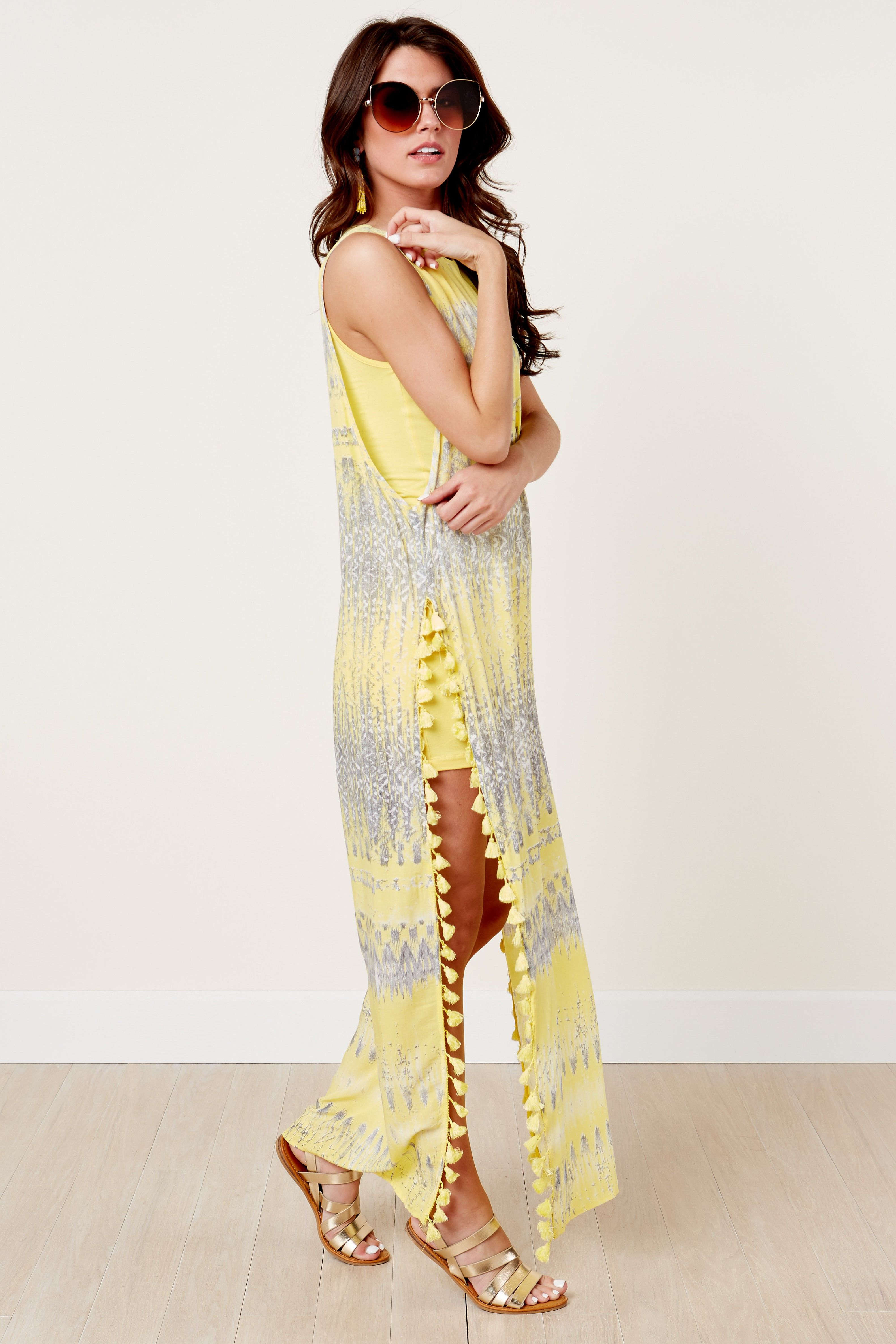 Yfb on the road nile yellow maxi dress at reddressboutique