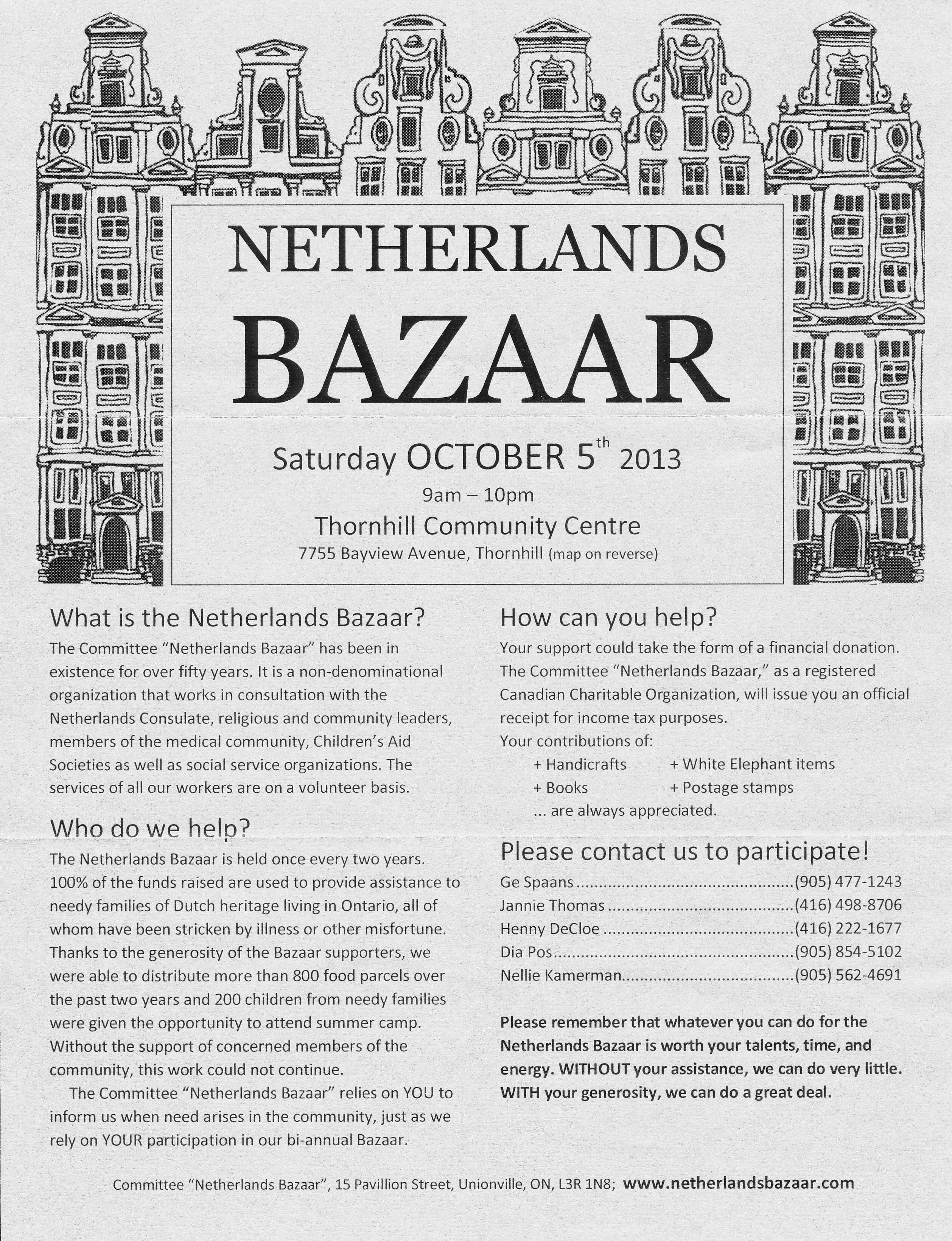 Toronto S Dutch Community Holds This Charitable Fundraiser Every Two Years Dutch Food Dutch Culture Dutch Treats Plus Book Sale Rummage Sale Cds And Lots