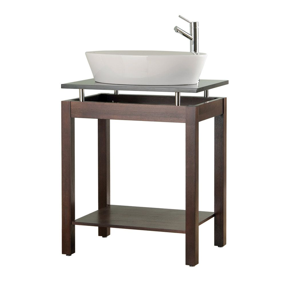 Fifth Avenue 28 Inch console vanity with granite top ...