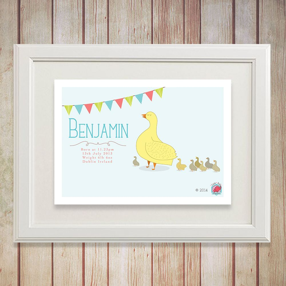 Shop Wall Art The Little Red Elephant Studio Dublin Ireland Childrens Room Wall Art Personalized Baby Gifts Engagement Gifts